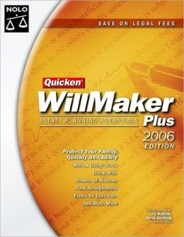 Quicken WillMaker Estate Planning Essentials, with CD-ROM