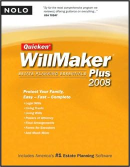 Quicken WillMaker Plus 2008 Edition: Estate Planning Essentials