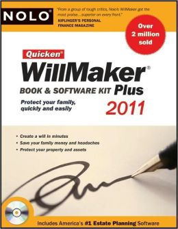 Quicken Willmaker 2011 Edition: Book & Software Kit