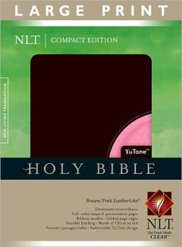 Compact Edition Bible NLT, Large Print, TuTone