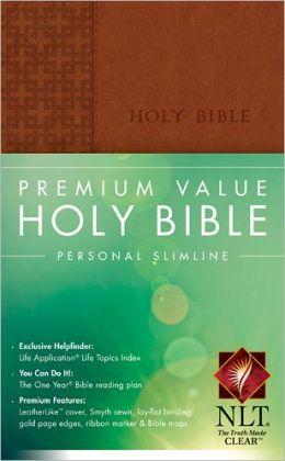 Premium Value Personal Slimline Bible NLT