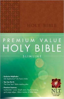 Premium Value Slimline Bible NLT
