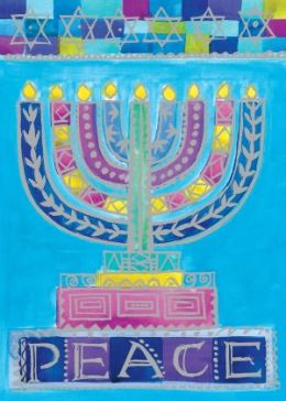 Peace Menorah Hanukkah Boxed Card