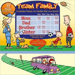 2011 Team Family Wall Planners Calendar