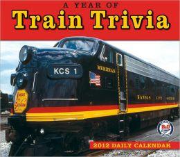 2012 Year of Train Trivia Box Calendar