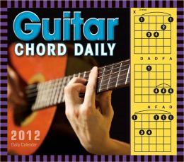 2012 Guitar Chord Box Calendar