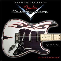 2013 Fender Custom Shop Guitar Mini Wall Calendar