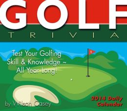 2014 Golf Trivia Boxed Daily Calendar