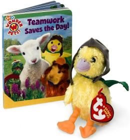Teamwork Saves the Day!: Book and Beanie Baby Gift Set (Wonder Pets! Series)