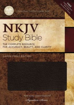 NKJV Study Large Print Bible: Indexed, Black