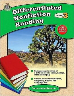 Differentiated Nonfiction Reading, Grade 3