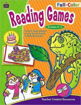 Full-Color Reading Games K-1