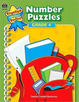 Number Puzzles: Grade 4 (Practice Makes Perfect Series)
