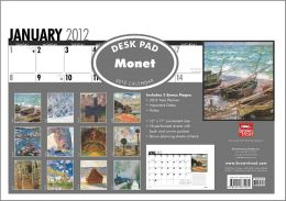 Claude Monet 2012 Desk Blotter Calendar