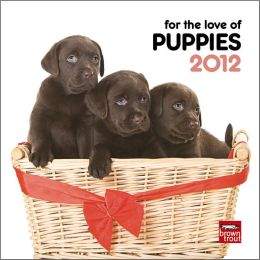 2012 Puppies, For The Love Of 7X7 Mini Wall Calendar