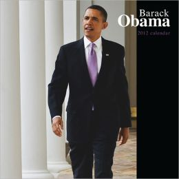 2012 Barack Obama Faces Square 12X12 Wall Calendar