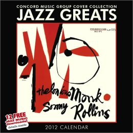 2012 Jazz Greats Square 12x12 Wall Calendar