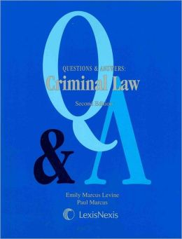 Q&A On Criminal Law 2007