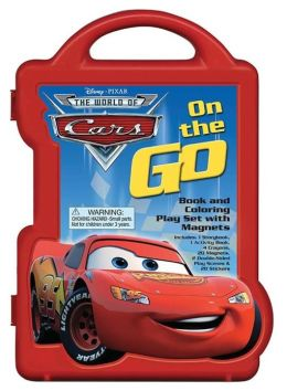 Cars On the Go (Book and Coloring Play Set with Magnets)