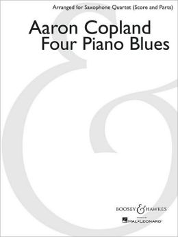 Four Piano Blues: Arranged for Saxophone Quartet (SATB) by Paul Cohen Score and Parts