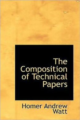 The Composition of Technical Papers