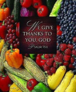 We Give Thanks/Thanksgiving Bulletin 2013, Large Size (Package of 50)