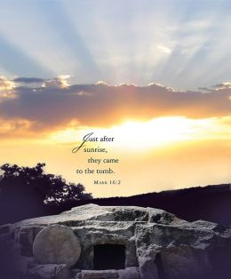 Just After Sunrise Easter Sunrise Bulletin 2014, Large (Package of 50)