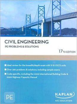 Civil Engineering PE Problems & Solutions