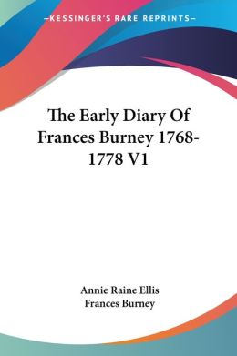 Early Diary of Frances Burney 17681778 V