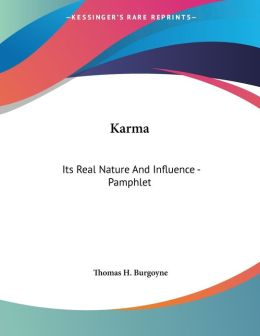 Karma: Its Real Nature and Influence - Pamphlet