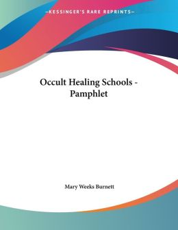 Occult Healing Schools - Pamphlet