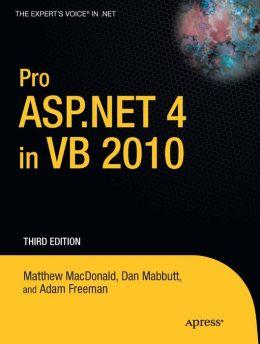 Pro ASP.NET 4 in VB 2010