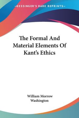 Formal and Material Elements of Kant's Ethics