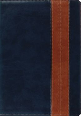 ESV Study Bible (Trutone, Navy/Tan, Band Design)
