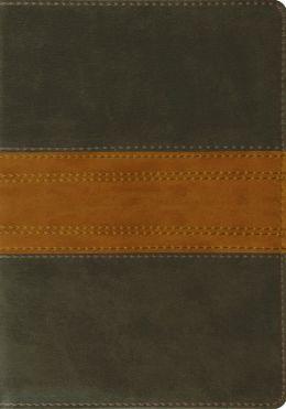 ESV Large Print Bible (Trutone, Forest/Tan, Band Design)