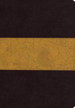 ESV Large Print Bible (TruTone, Coffee/Goldenrod)