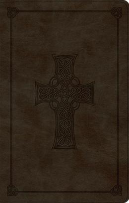 ESV UltraThin Bible (TruTone, Olive, Celtic Cross Design)