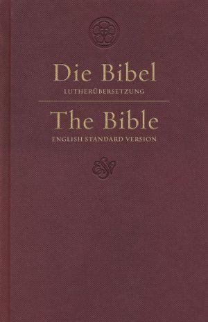 ESV German/English Parallel Bible (Luther/ESV, Dark Red)