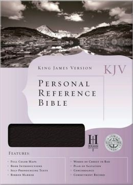 KJV Personal Reference Bible, Burgundy Bonded Leather
