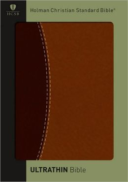 HCSB Bible, UltraThin/Dark Brown/Brown Duotone Simulated Leather