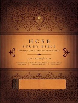 HCSB Study Bible, Brown/Tan LeatherTouch Indexed