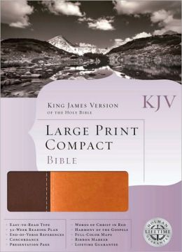 KJV Large Print Compact Bible, Dark Brown/Light Brown LeatherTouch