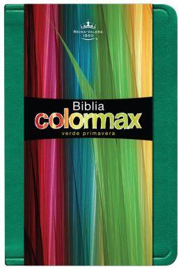 RVR 1960 Biblia Colormax, verde primavera imitacion piel