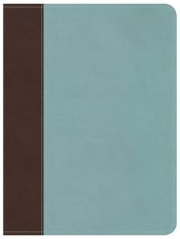 Life Essentials Study Bible, Brown/Blue LeatherTouch Indexed: Biblical Principles to Live By