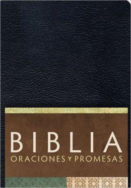 RVC Biblia Oraciones y Promesas - Negro imitacion piel