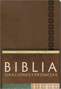 RVC Biblia Oraciones y Promesas - Canela simil piel con indice