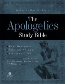 Apologetics Study Bible - Mahogany Duotone Simulated Leather
