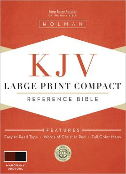 KJV Large Print Compact Reference Bible, Mahogany LeatherTouch
