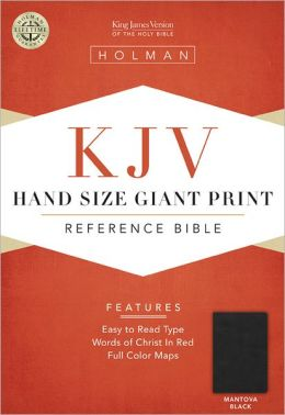 KJV Large Print Personal Size Reference Bible, Mantova Black LeatherTouch