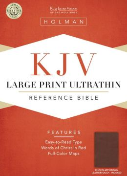 KJV Large Print Ultrathin Reference Bible, Chocolate/Brown LeatherTouch Indexed